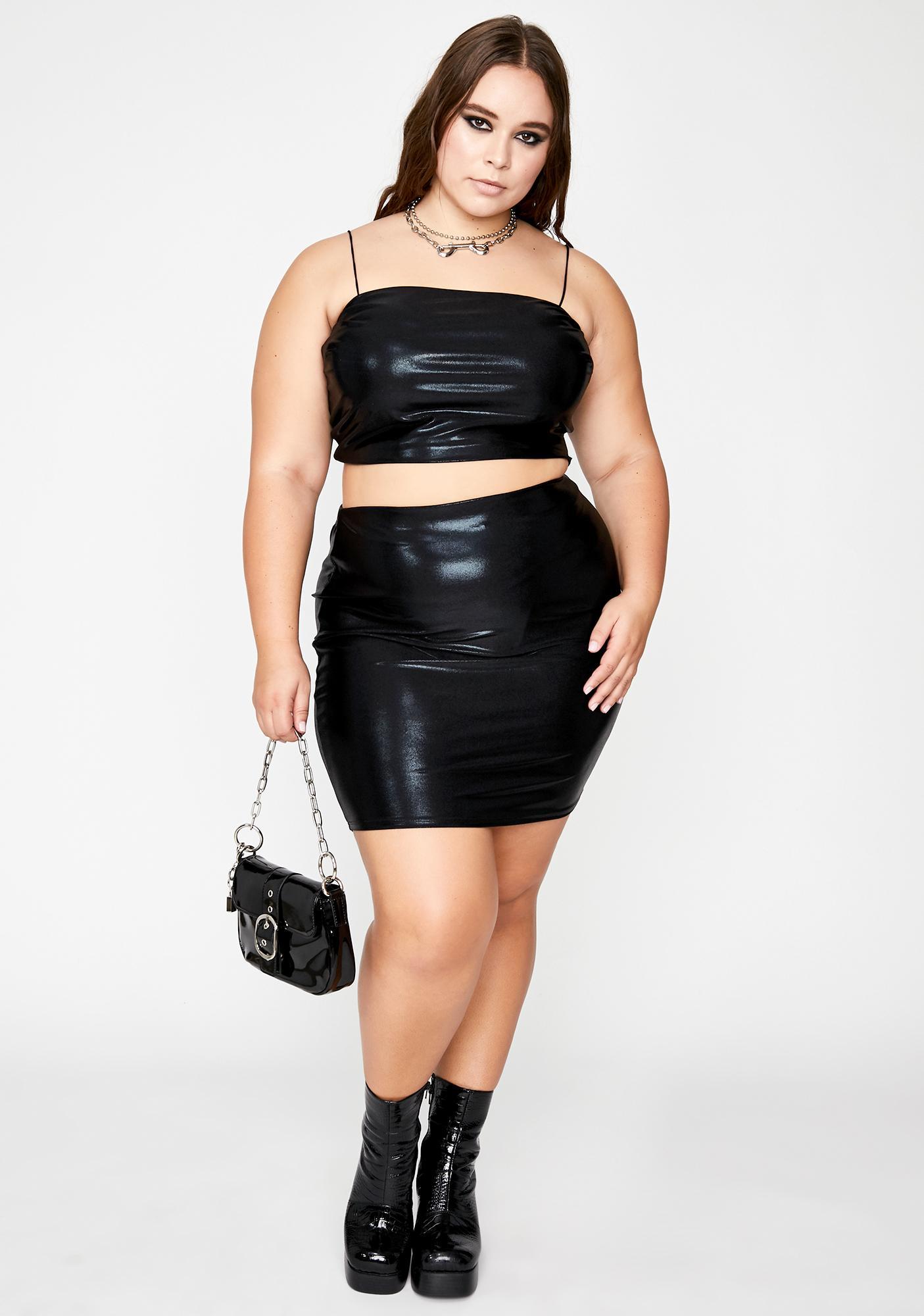 Dark Total Space Rave Skirt Set