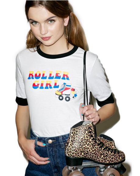 Roller Girl Ringer Tee