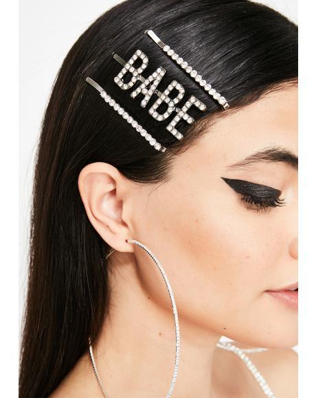 Blessed Babe Rhinestone Hair Clip