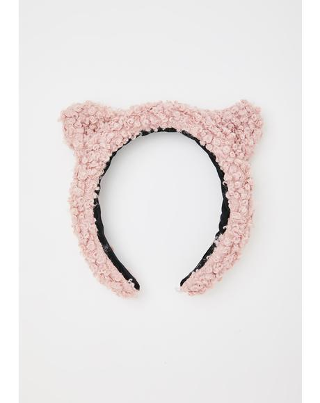 Sweet Teddy Time Fuzzy Headband