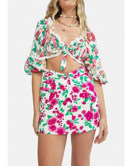 Carnation Janelle Linen Mini Skirt