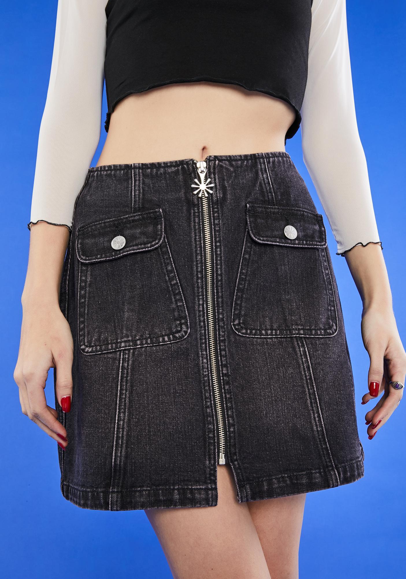 dELiA*s by Dolls Kill Are U Afraid Of The Dark Mini Skirt