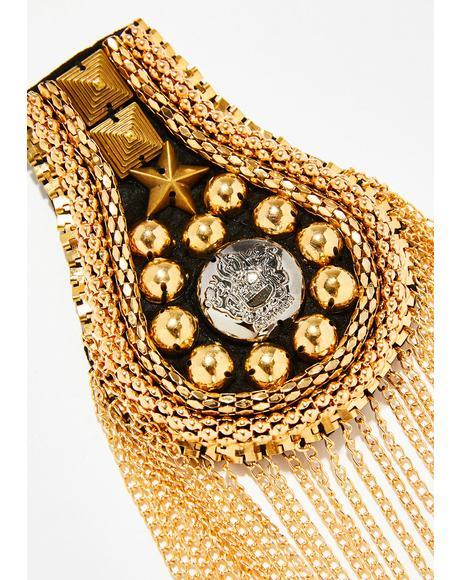 Symbolic Sass Golden Epaulettes