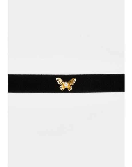 Finally Free Butterfly Choker
