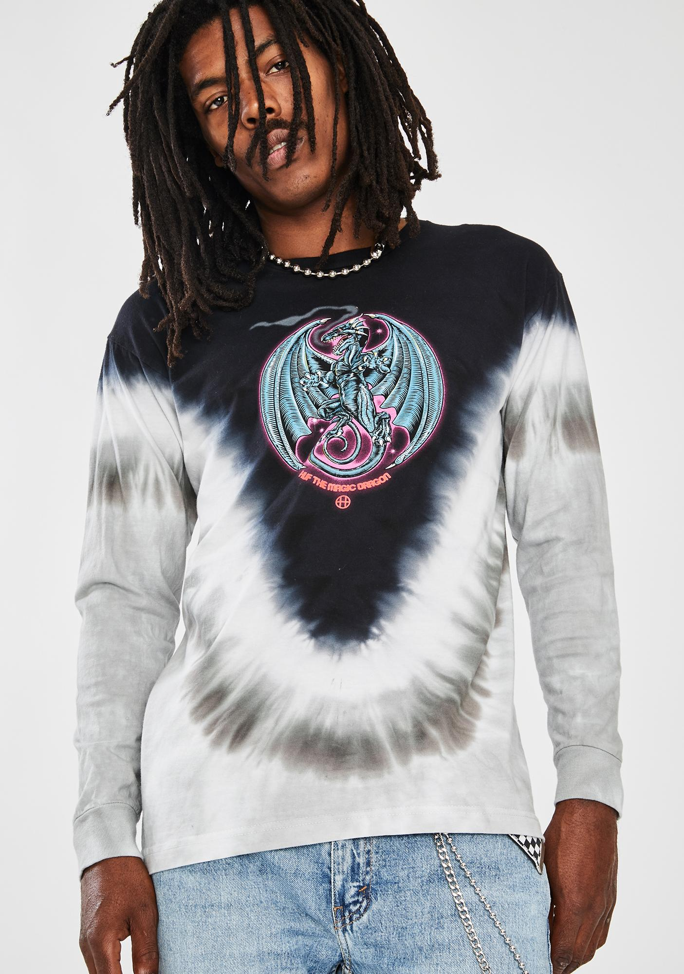 HUF Black Huf The Magic Dragon Graphic Tee