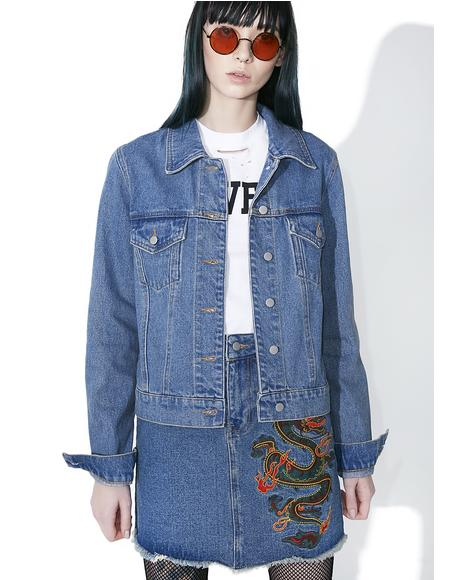 Spittin' Fire Denim Jacket