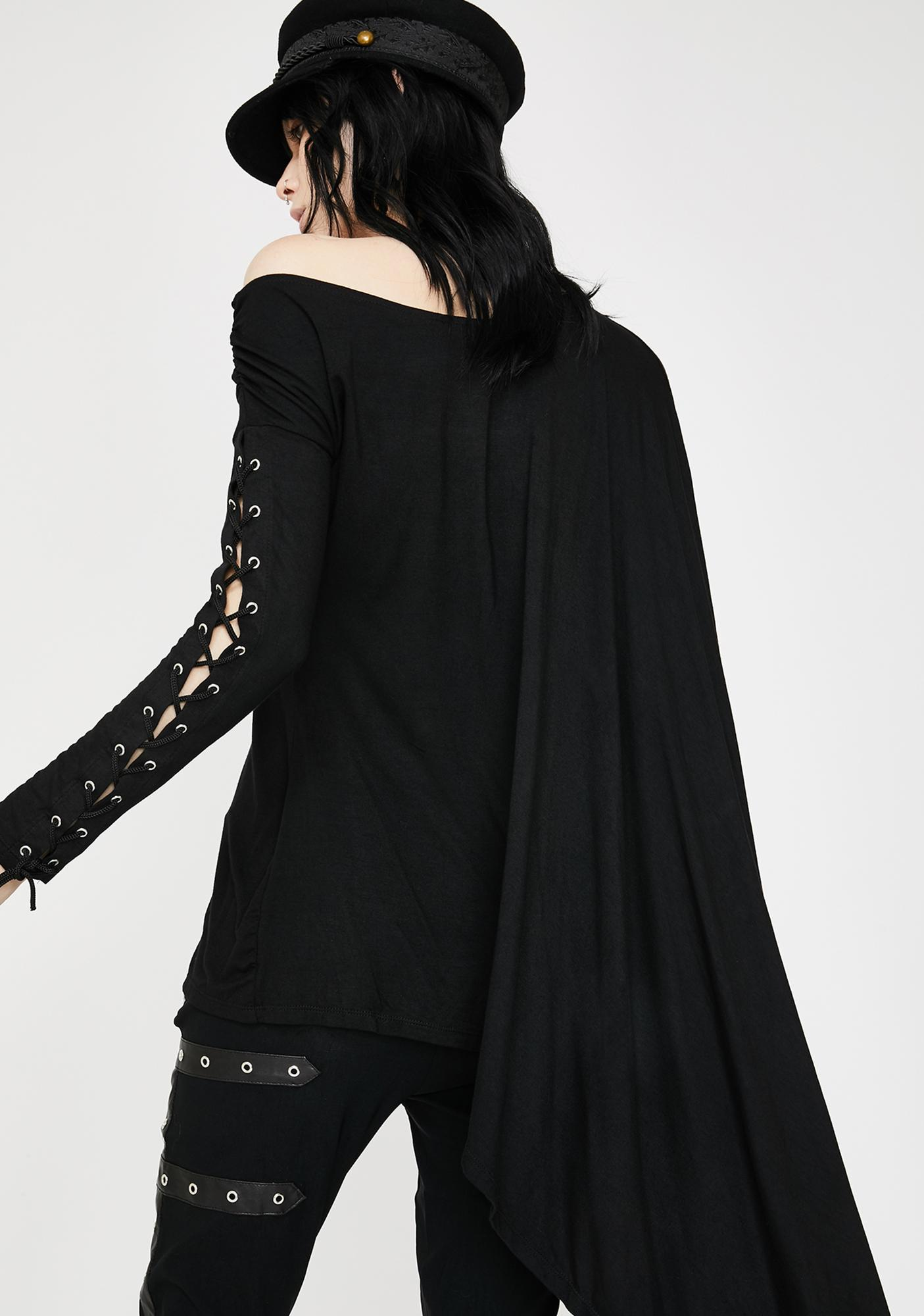 Necessary Evil Gothic NYX Asymmetric Top