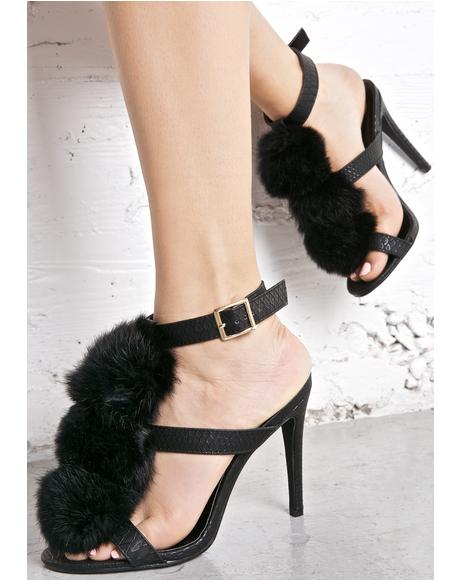 Onyx Pouty Puff Heels