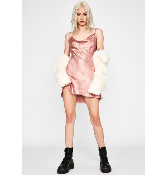 Blushing Wallflower Slip Dress