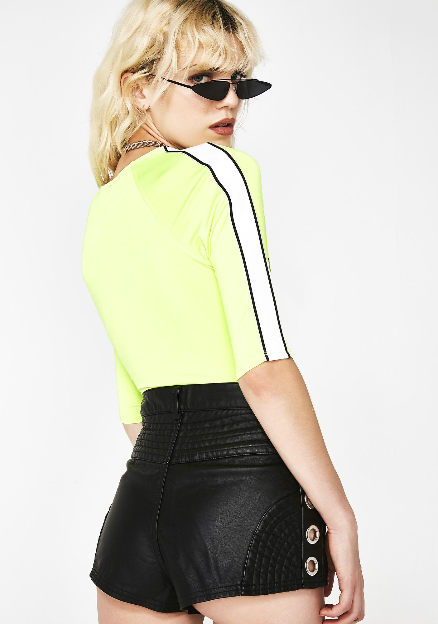 Hazard Zone Neon Bodysuit
