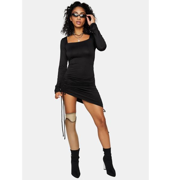 Thru 'N Thru Long Sleeve Mini Dress