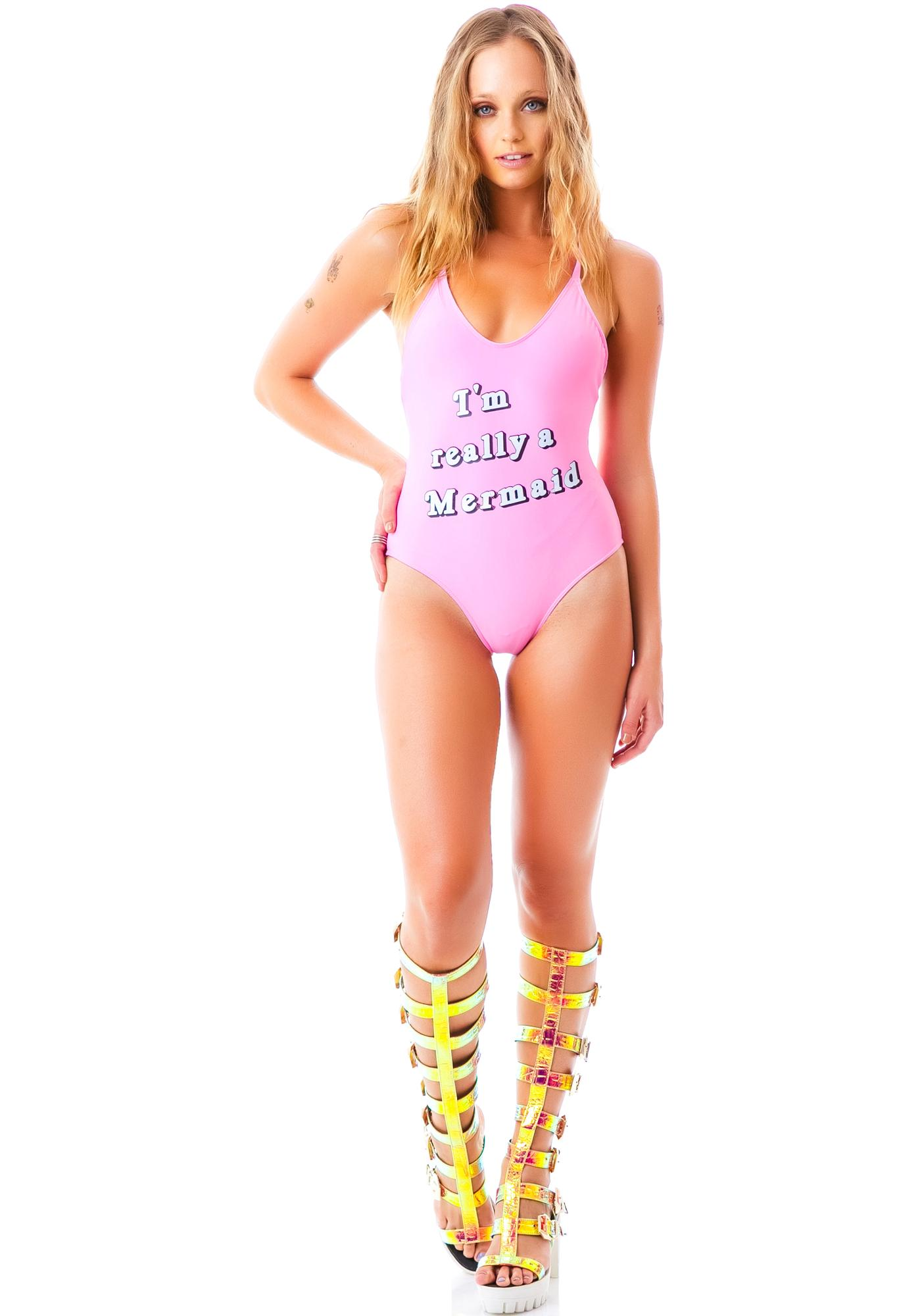 Wildfox Couture I'm Really A Mermaid Classic One Piece