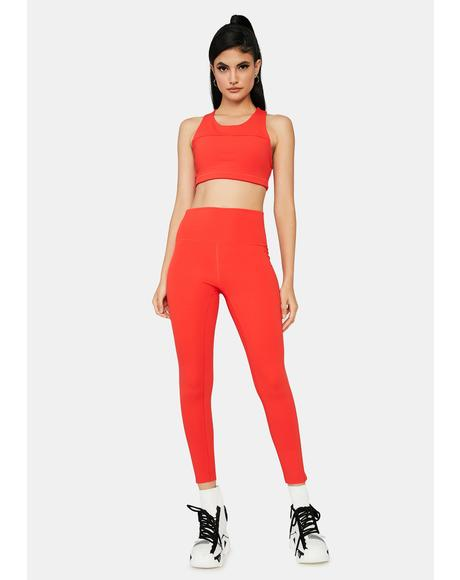 Cherry Complex Flex Sporty Leggings