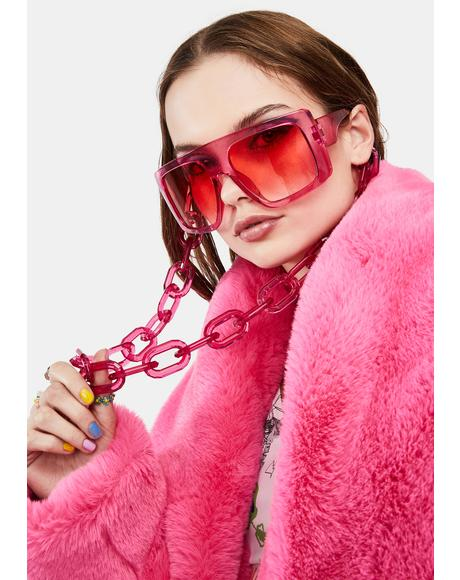 Candy Lap Of Luxury Oversized Sunglasses