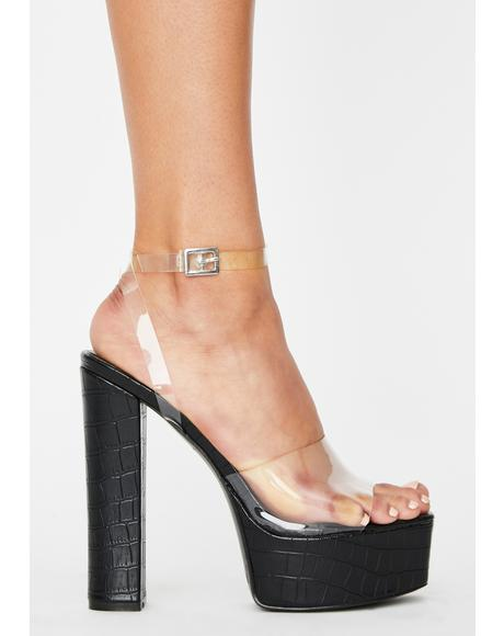 Get It Done Platform Heels
