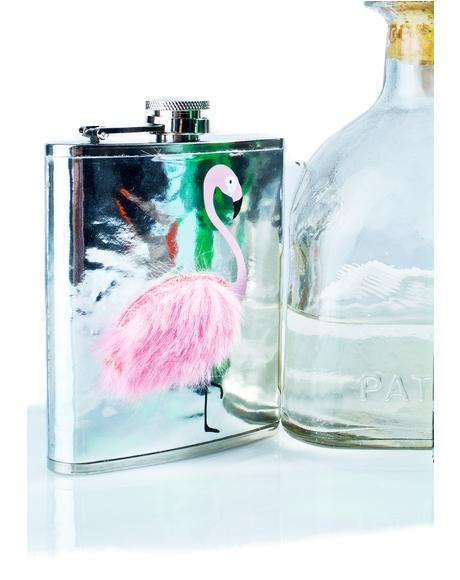 Flamingo Fluff Flask