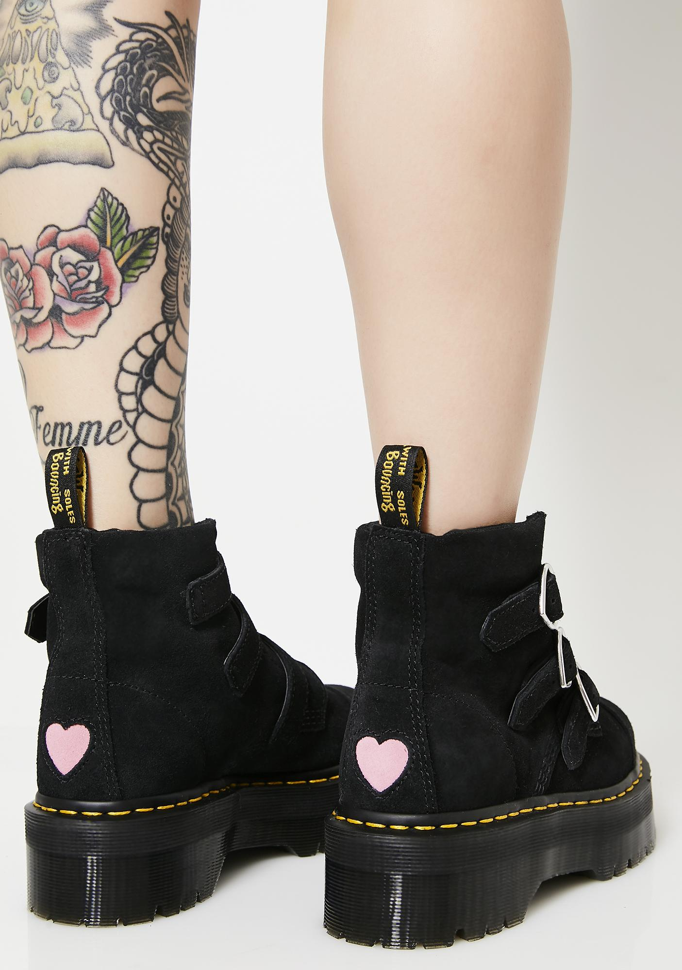 Dr. Martens X Lazy Oaf Lo Buckle Boots