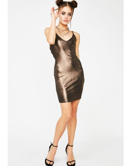 Letz Talk Metallic Dress