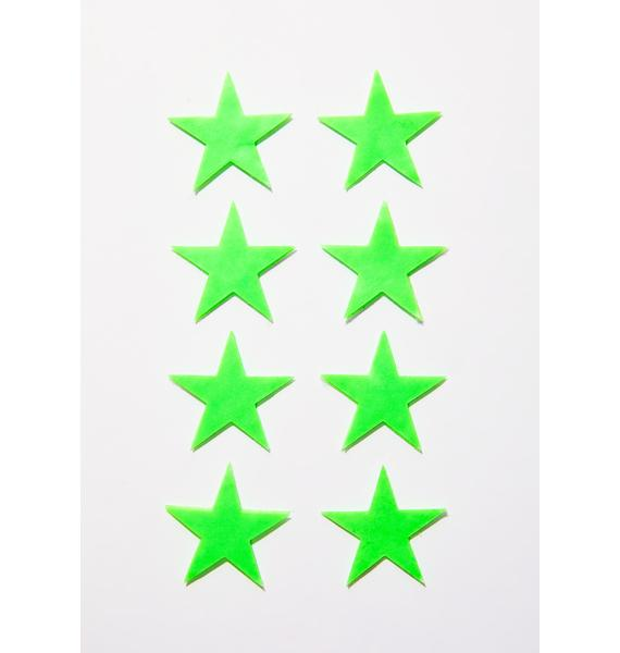 Pastease Mini Neon Green Glow-In-The-Dark Star Body Minis