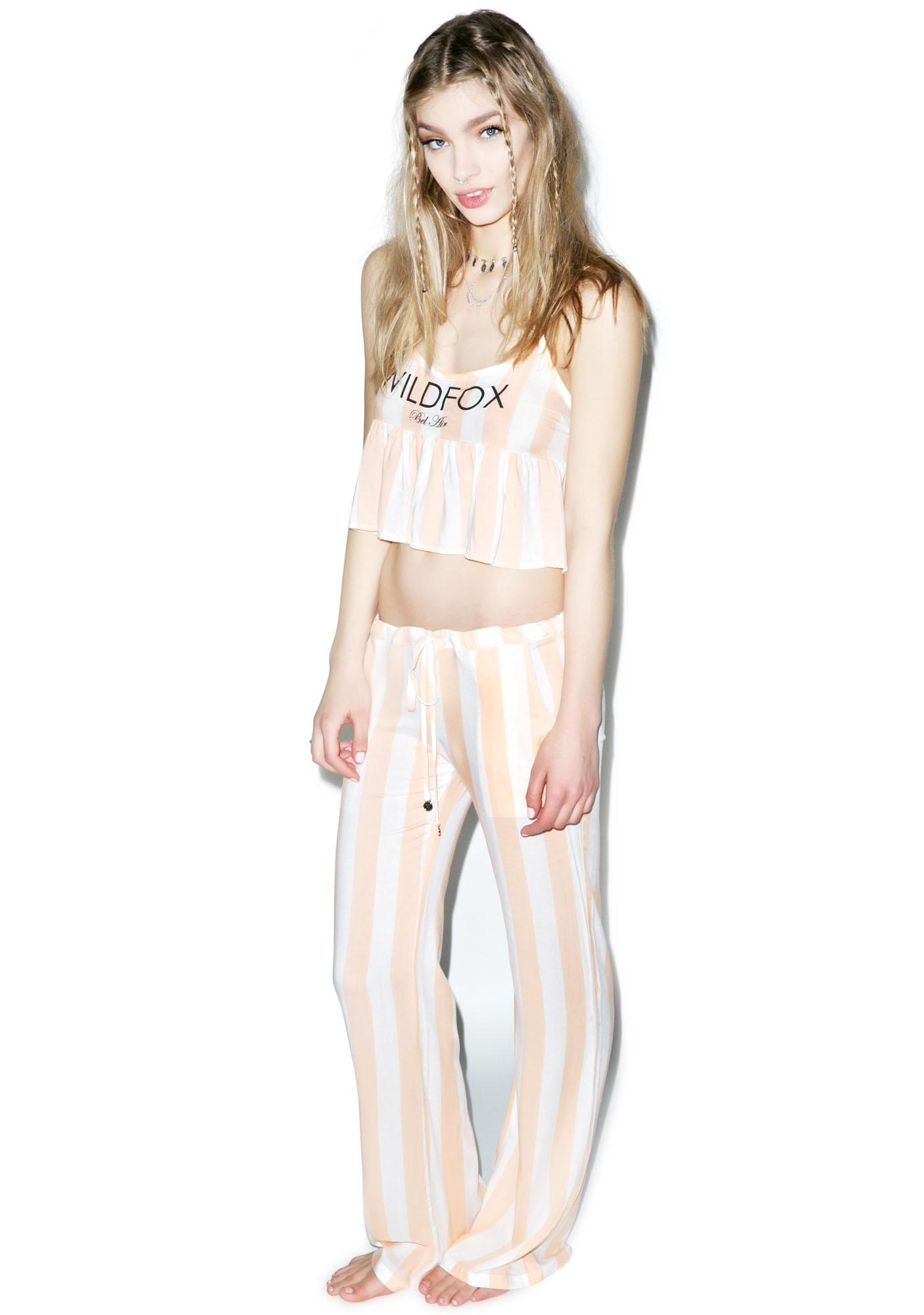 Wildfox Couture Hotel Stripe Bora Bora Pants