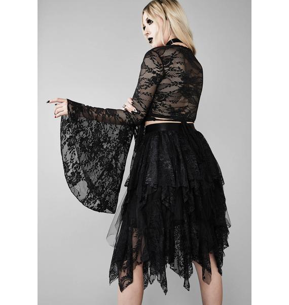 Widow Bone Chilling Lace Skirt