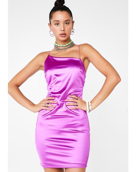 Party Glam Satin Dress