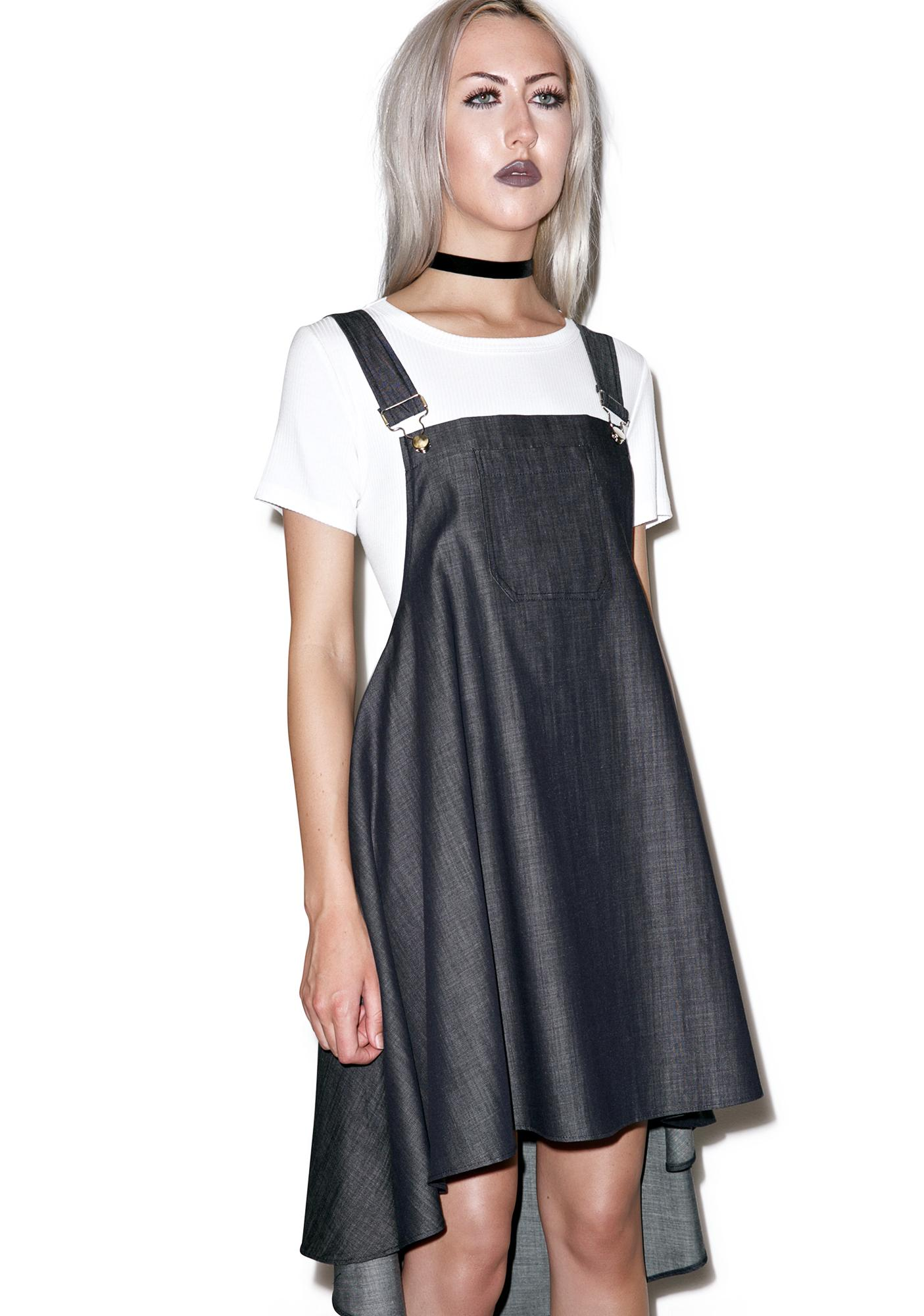 Selvage Strings Attached Overall Dress