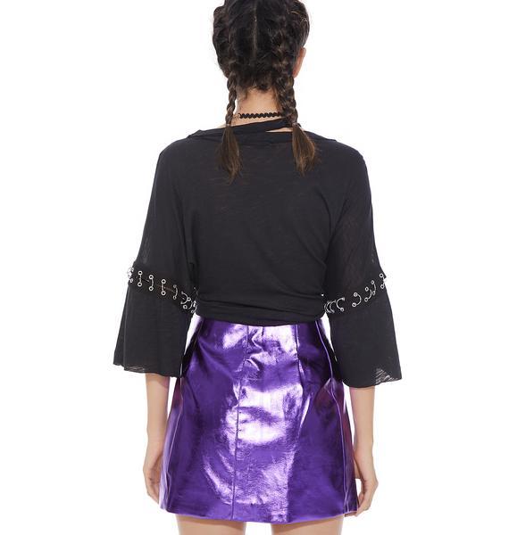 Nebula Wade Shiny Skirt