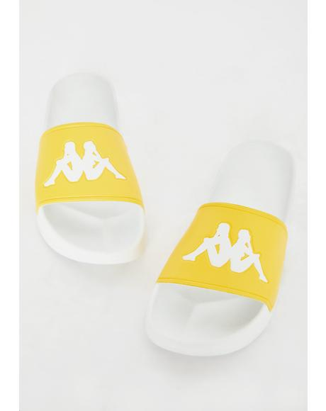 Light Yellow Authentic Adam 2 Slides
