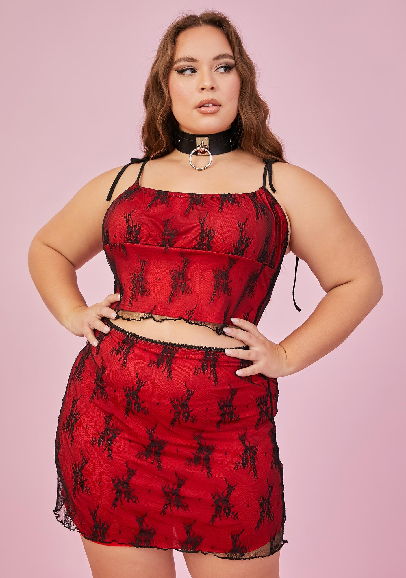 Sugar Thrillz Lover Let's Set The Mood Lace Skirt