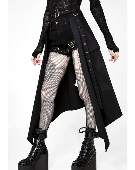 Steampunk Half Skirt