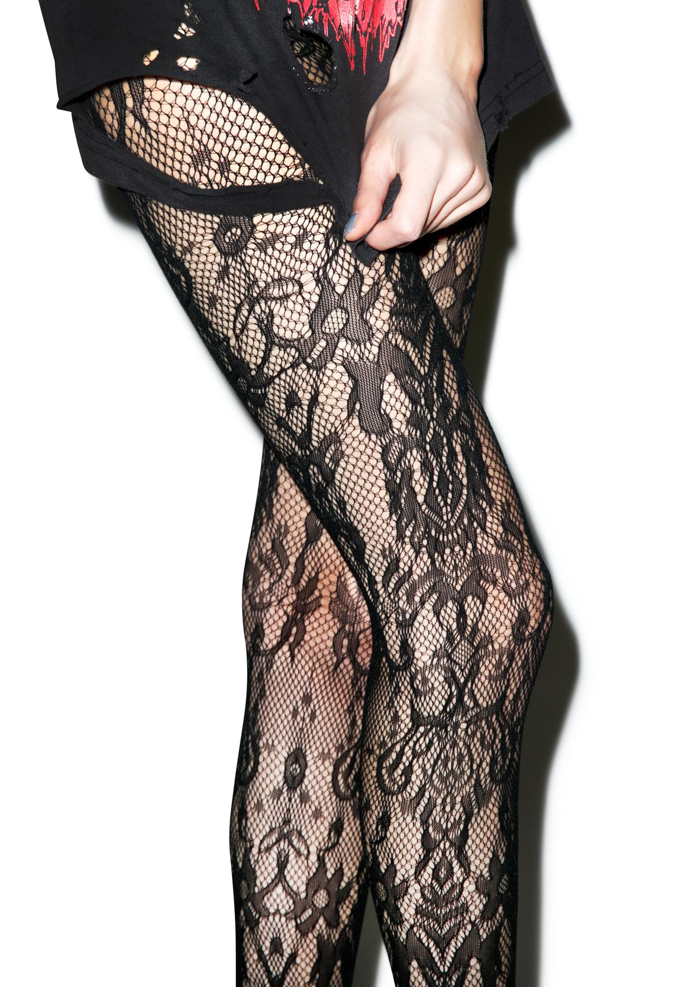 Lip Service Leggy Lace Tights