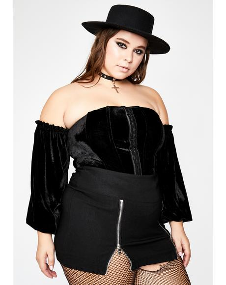 She's Made For Mystery Velvet Top