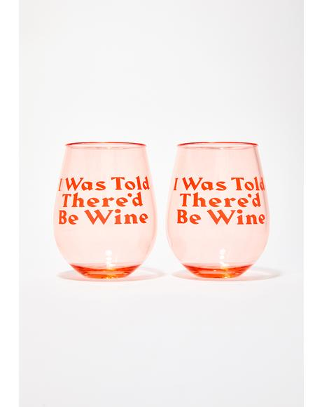 Party On Wine Glass Set