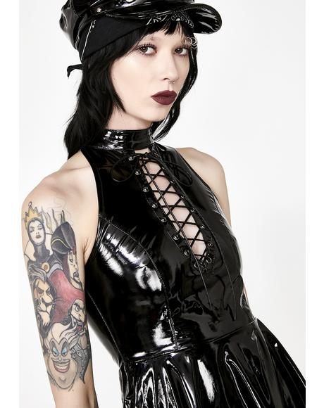Punk Midnight Seduction Mini Dress