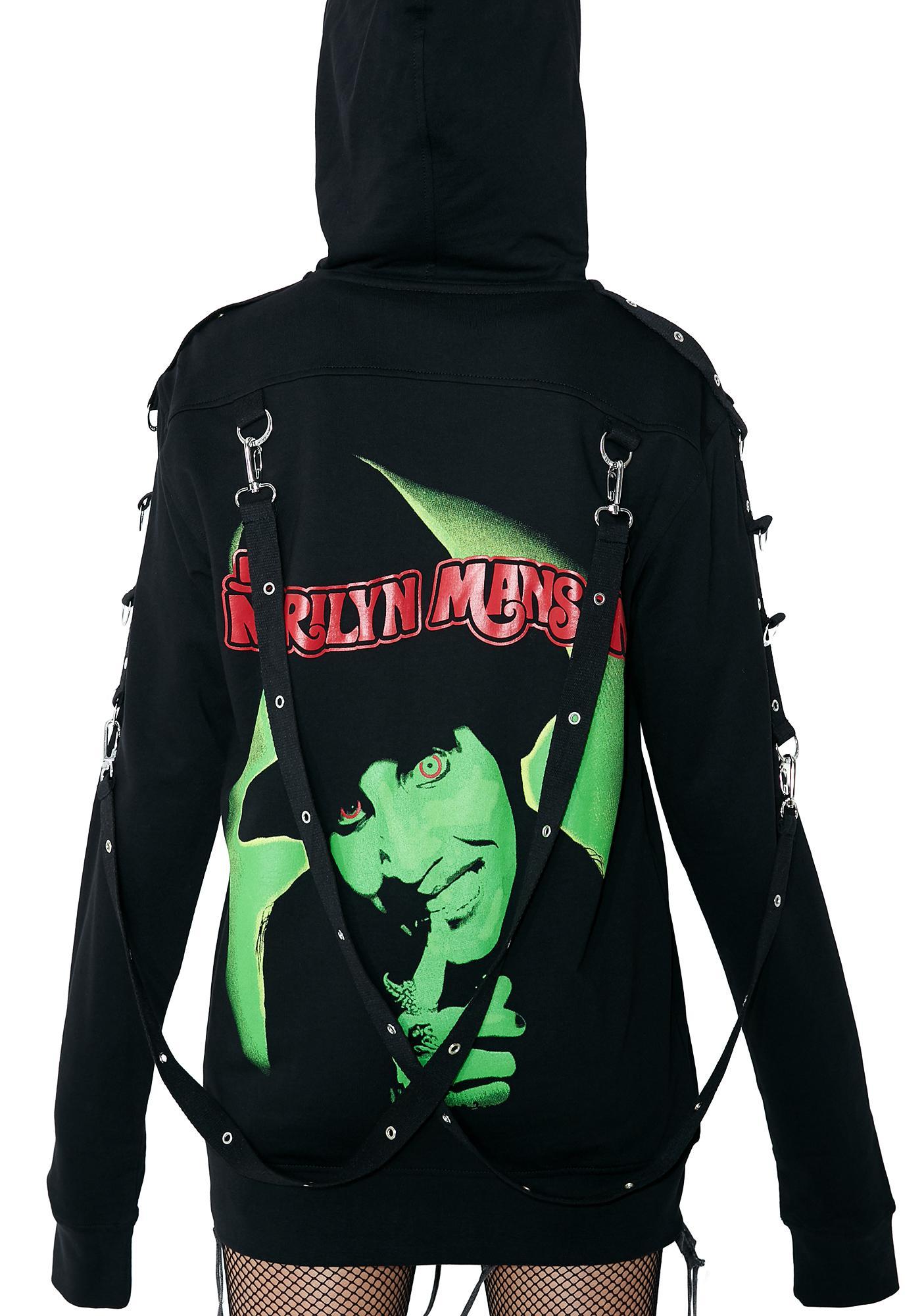 99dc7c13b5296f Killstar Smells Like Manson Hoodie | Dolls Kill