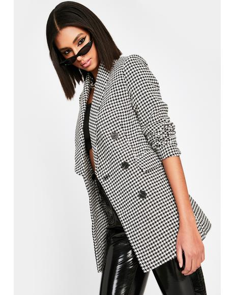 I'm The Executive Houndstooth Blazer