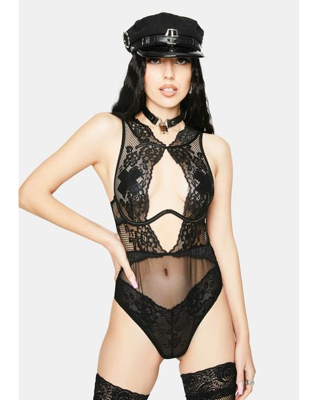 Give Me The Business Lace Bodysuit