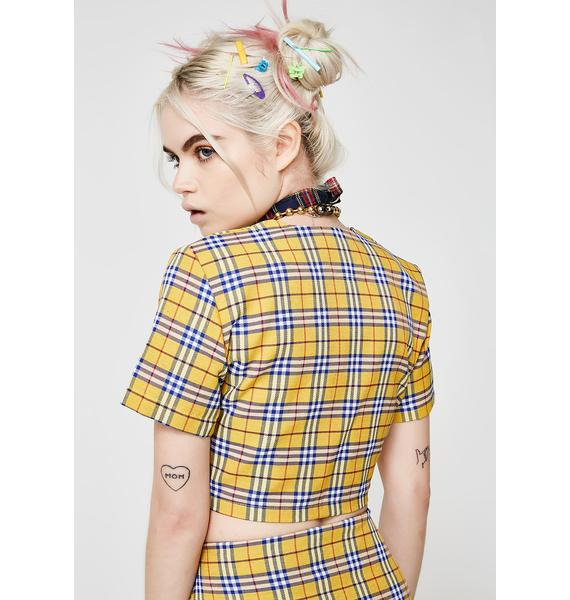 O Mighty Clueless Tie Front Top