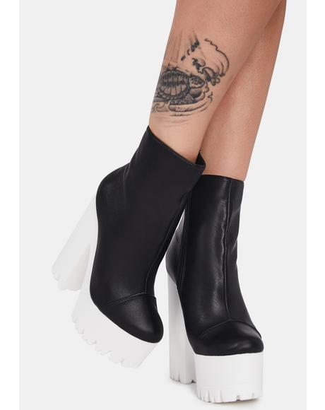 Black Odiana Platform Ankle Boots