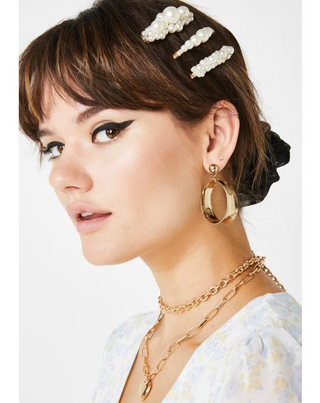 Debutante Pearl Hair Clip Set