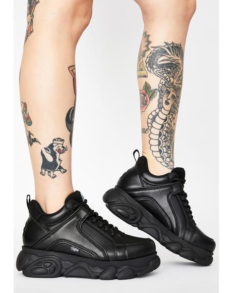 Black Corin Platform Sneakers