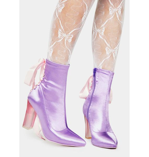 Sugar Thrillz Take A Bow Corset Booties
