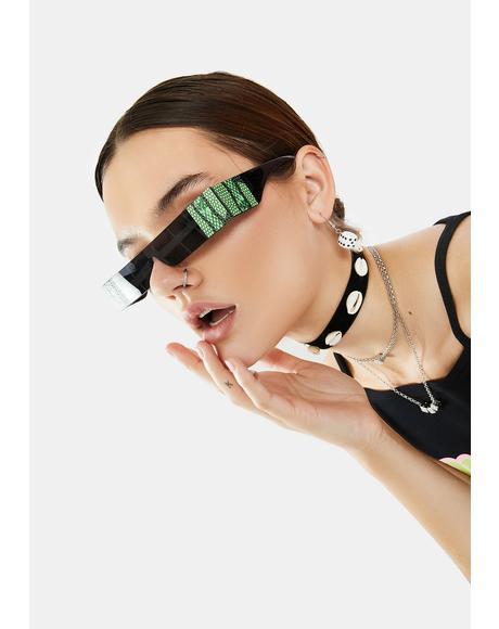Bite Me Shield Sunglasses