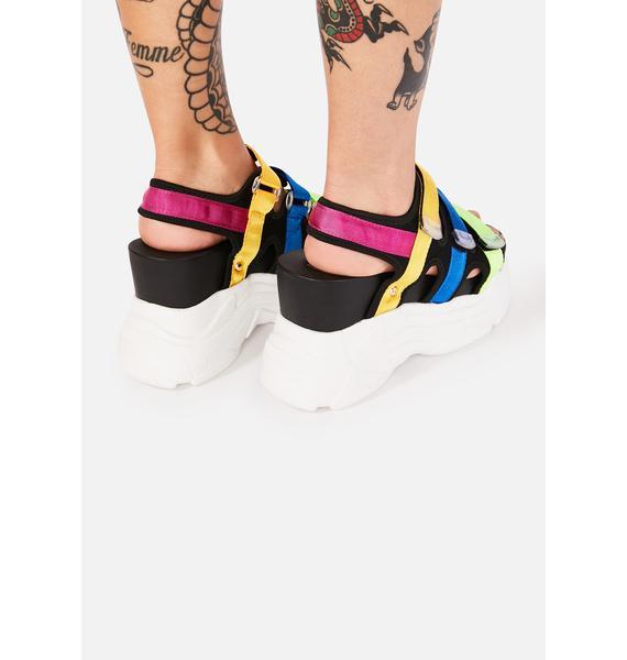 Prism Paradise Wedge Sandals