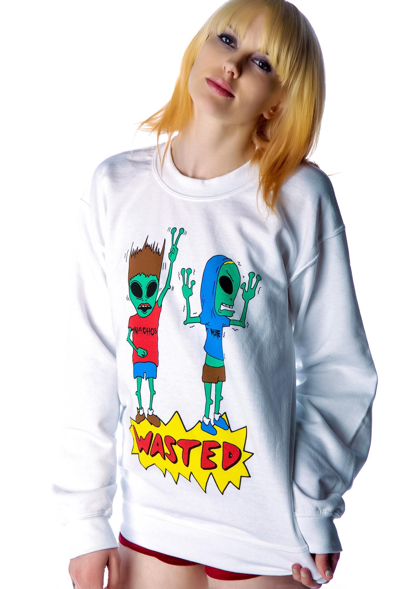 Jac Vanek Wasted Alien Crew Sweatshirt