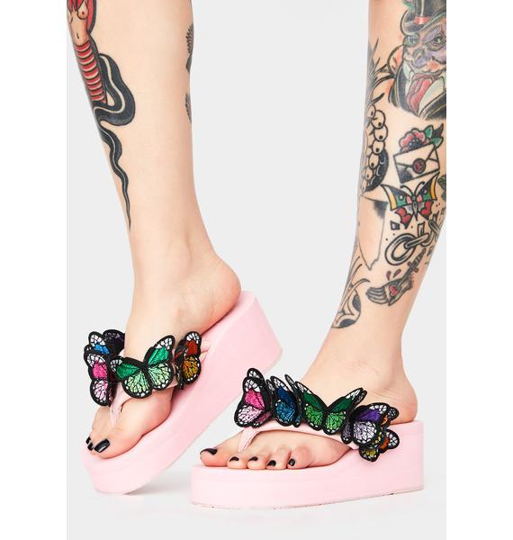 Friends 4 Life Platform Sandals