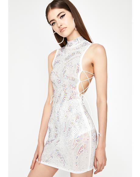 Icy Classy Code Rhinestone Dress