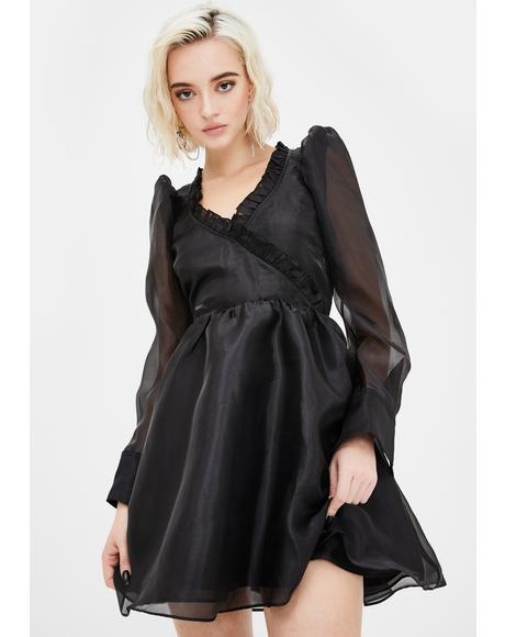 Dark Angel Delight Puff Dress
