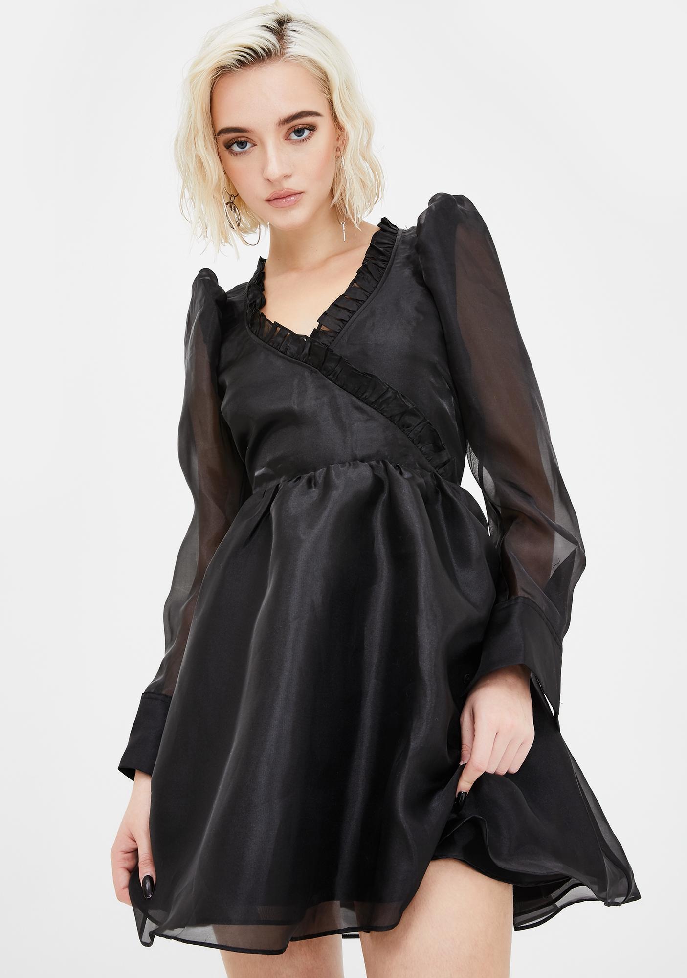 Selkie Dark Angel Delight Puff Dress